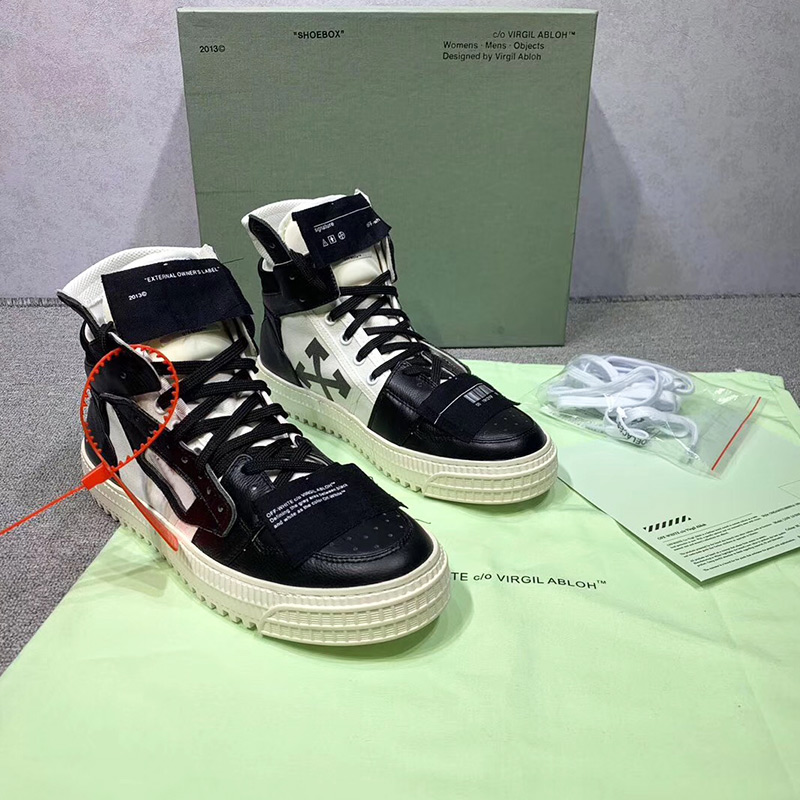 19ss offwhite fashion brand trend single yellow speed belt classic arrow high help couple unisex casual wild models