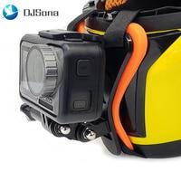 Rosto cheio capacete queixo montar titular capacete da motocicleta queixo suporte da câmera acessórios para gopro hero 7 6 5 yi ação esportes câmera|Capacetes| |  -