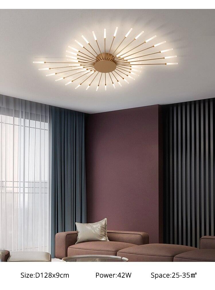 Nordic moderno lâmpada do teto led brilho