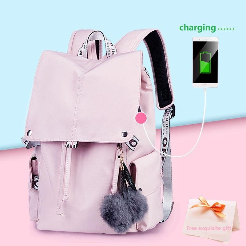 Fashion Girls School Bags Teenage Girls Children Student School Bag Nylon Waterproof Teen Student Backpack School Bags For Girls