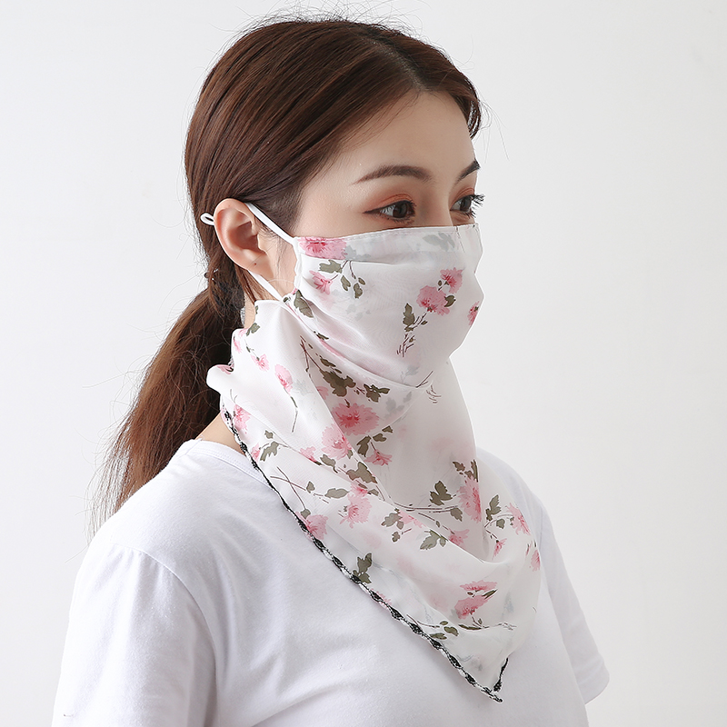 New Face Mask Summer Sun Protection Scarf Silk Hair Neck Shawls and Wraps Female Bandana Luxury Brand Scarves Accessories 2020