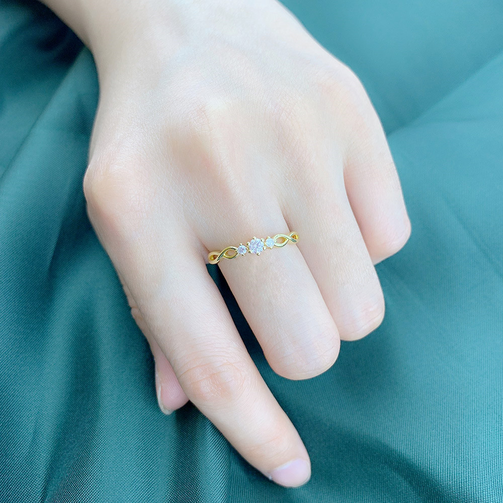 ZHOUYANG anillos para mujer Simple Mini zirconia joyas Color oro rosa boda anillo de novia regalo joyería de moda al por mayor R237