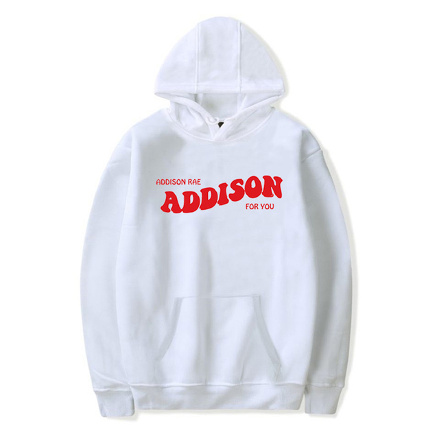 Addison Rae Hoodies Women ADDISON FOR YOU Pouty Face Cool Sweatshirt Man Hoodie Hip Hop Streetwear Fashion Coats Outwear Womens