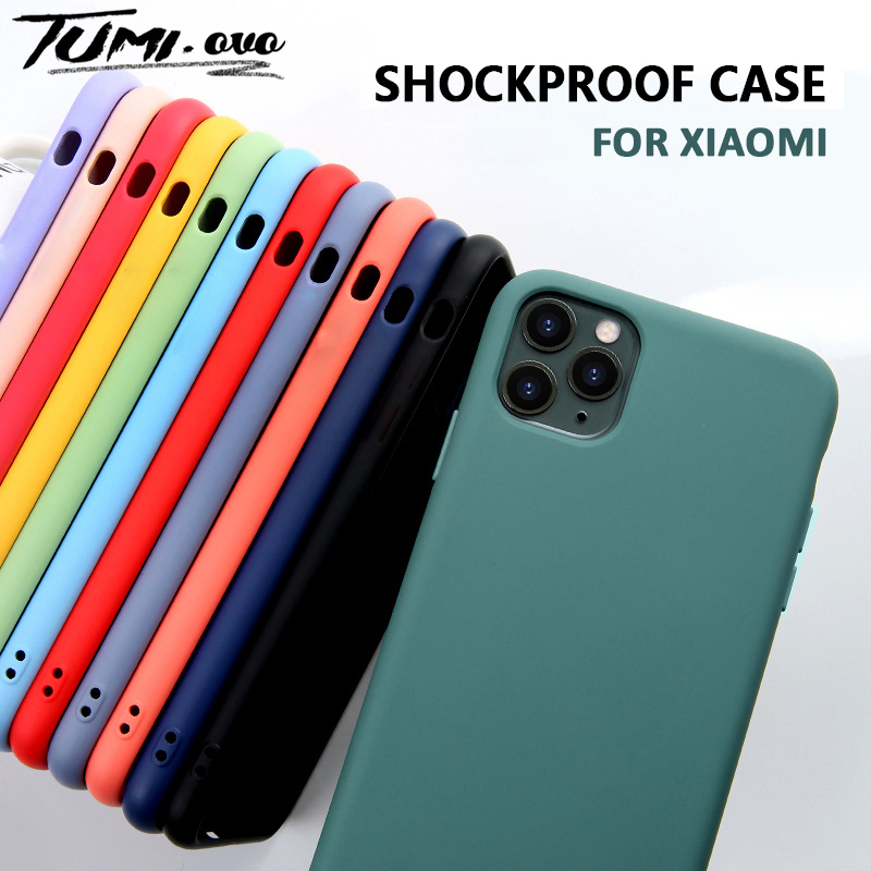 Liquid Silicone Case For Xiaomi Mi 10 Pro CC9 CC9E 9T 9 SE A3 Lite Soft Cases For Xiaomi Redmi Note 8T 8 Pro 7 5 8A 7A K20 Cover(China)