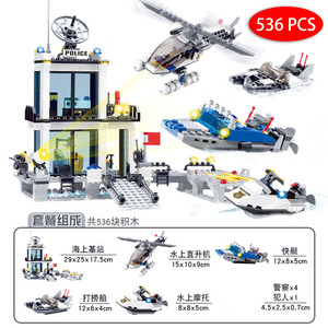 Image 5 - City Police Station SWAT Building Blocks Car Helicopter House Truck Creative Bricks Toys For Children Boys