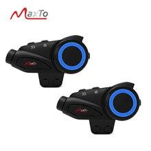 2 סט Maxto M3 עמיד למים אופנוע Bluetooth WIFI וידאו מקליט 6 רוכבים קסדת אינטרקום האינטרפון & HD Sony 1080P עדשת DVR