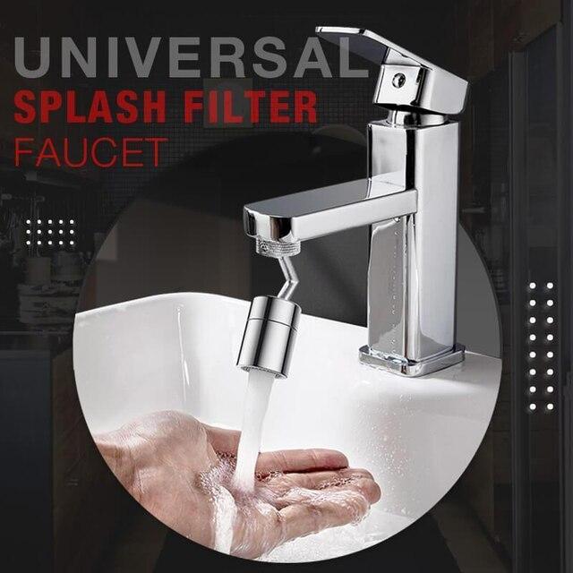 720°Universal Splash Filter Faucet Spray Head Anti Splash Filter Faucet Children Movable Kitchen Tap Water Saving Nozzle Sprayer 2