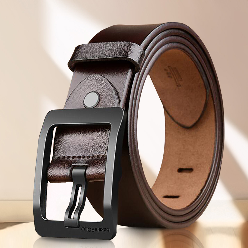 Luxurious Atmosphere Male Pin Buckle Belt Fashion Simple Mens Belts Casual Leather Mens Belts