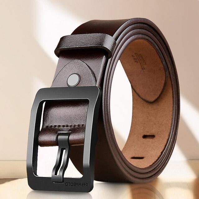 Cinturones de diseñador para hombre, cinturones casuales de alta calidad, Estilo Vintage, de cuero genuino, 8868