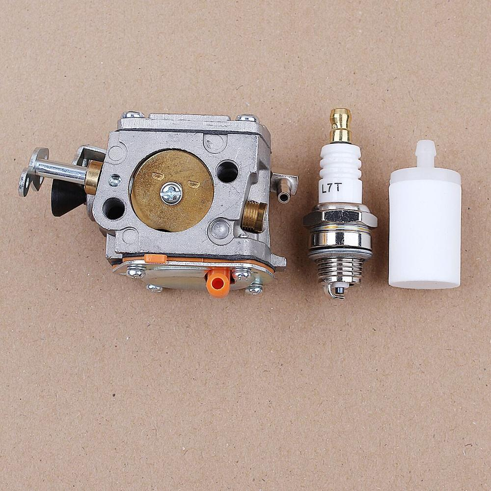 Carburetor Fuel Filter Spark Plug Kit fit Huaqvarna Partner K650 K700 K800 K1200 Cut-off Concrete Saw Carb 503280418 Parts
