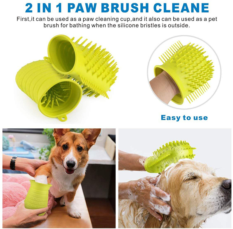 Benepaw Dog Paw Cleaner Shower Brush 2 In 1 Portable Soft Silicone Pet Foot Washer Effectively Cleaning Cup Puppy Cats Massage 10