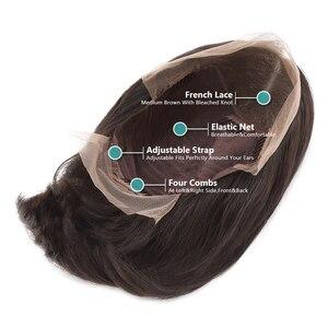 Image 5 - Rosabeauty, 250 плотность, бразильский короткий Боб, Реми, парик, прямые, на кружеве, человеческие волосы, парики, натуральные, на кружеве, парик для черных женщин