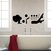 Diy bath Family Wall Stickers Mural Art Home Decor For Kids Rooms LW560