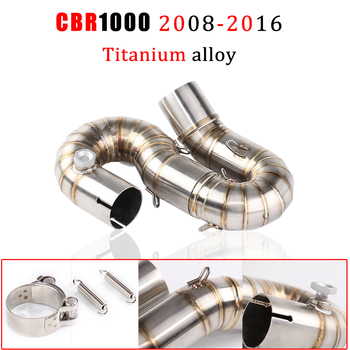 Motorcycle exhaust For Honda cbr1000rr 2008 - 2016 CBR1000 Middle link pipe muffler pipe Midified Titanium alloy Middle pipe