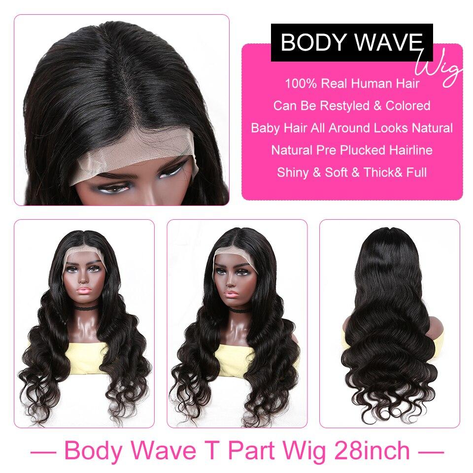 YYong 28inch 1x6 Topline Lace Wig  Body Wave T Part Lace  Wigs HD Transparent  Lace Wig Middle Part 3