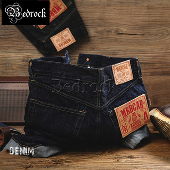 MBBCAR14OZ basic casual heavy washed Red Line Denim jeans man rope dyeing craftsmanship antique fabric straight-leg jeans 7246 зонт unit basic red