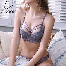 CINOON, новое Роскошное белье, комплект с бюстгальтером, высокое качество, женское нижнее белье, бюстгальтер пуш ап, регулируемый бюстгальтер и трусики