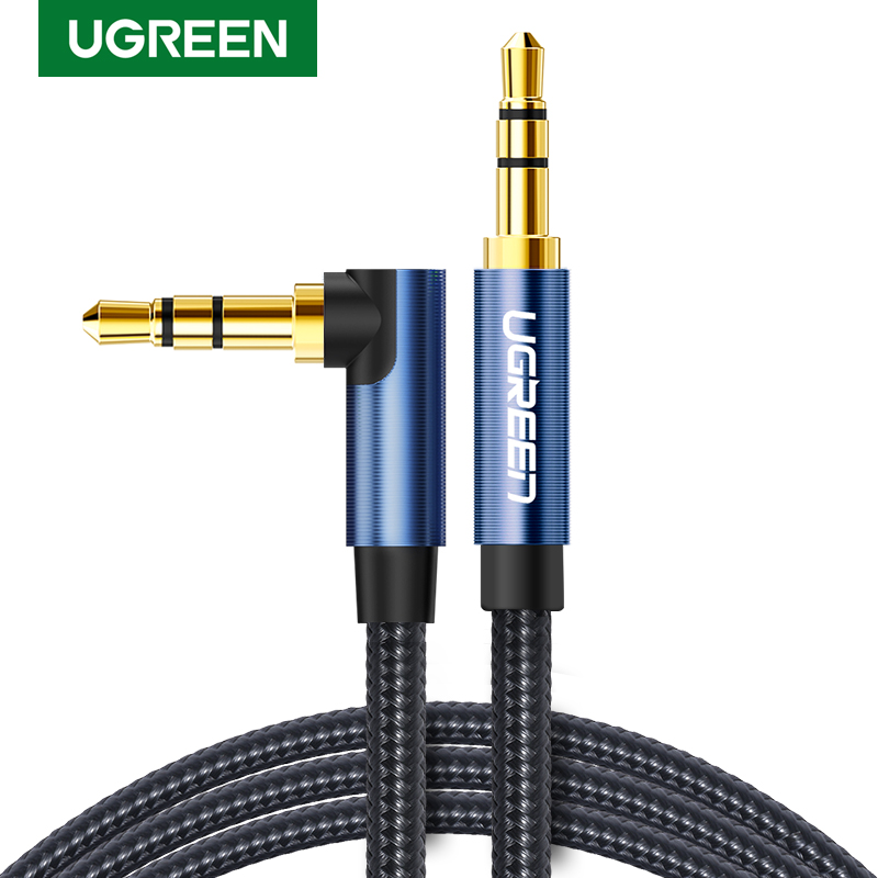 Ugreen Audio Jack 3.5mm Aux Cable Male To Male Aux Cable 3.5mm Jack Audio Cable Auxiliar For Car Headphone MP3/4 Phone 3.5 Mm