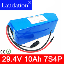 24v battery 24V 10Ah Electric bicycle Lithium Ion Battery 29.4V 10000mAh 15A BMS 250W 350W 18650 Battery Pack Wheelchair Motor e bike battery 7s 24v 15a bms 24v lithium battery bms for electric bike 24v 8ah 10ah 12ah li ion battery with balance function