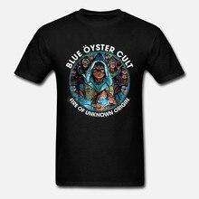 Camiseta s m l xl 2xl 3xl camiseta azul da banda do rock duro de eric bloom do t do culto da ostra