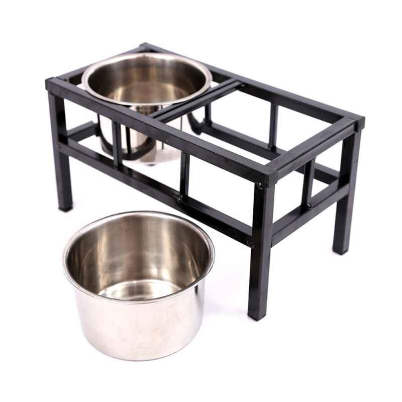 Raised Elevated Dog Feeder Stand With 2 Removable Stainless Steel Pet Food Bowls Dog Feeding Aliexpress