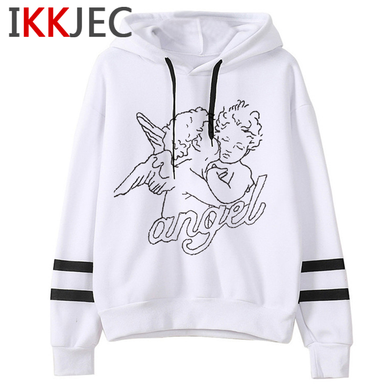 New Angel Aesthetic Harajuku Hoodies Men/women Ullzang Funny Cartoon 90s Sweatshirt Winter Warm Grunge Graphic Hoody Male/female 14