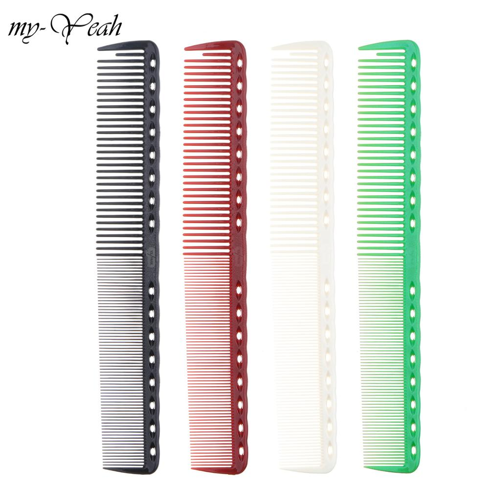 4 Colors Professional Hair Combs Barber Hairdressing Hair Cutting Brush Anti static Tangle Pro Salon Hair Care Styling Tool-in Combs from Beauty & Health