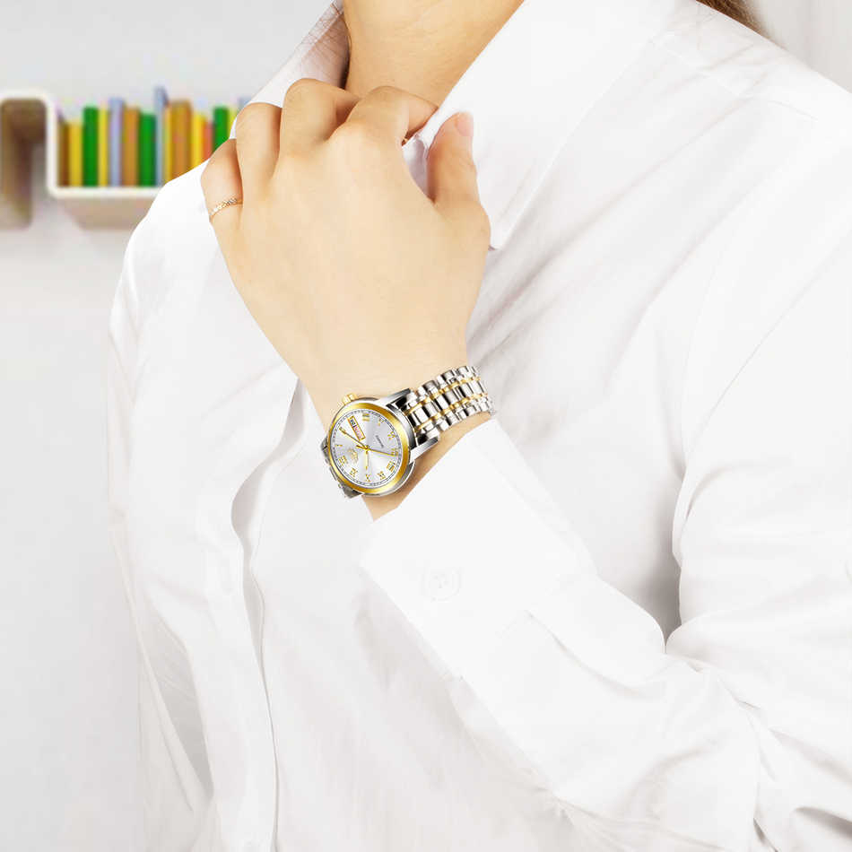 LIGE 2020 femmes montres de luxe étanche montres bracelet en acier de marque supérieure montre à Quartz Wirst pour les femmes horloge Reloj Mujer