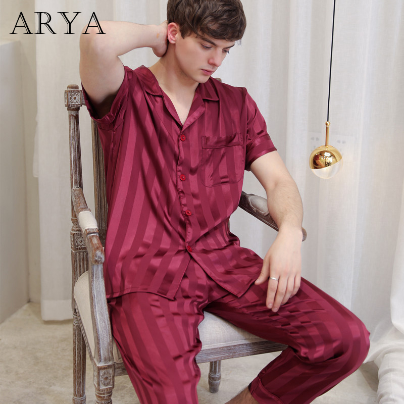 Winter Summer Men Pajama Sets Pyjamas Short Sleeved Casual Sleepwear Suit Plus Size 3XL Homewear Pyjama Fashion