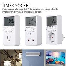 Interruptor de temporizador Digital electrónico UE UK enchufe de EE. UU. Salida de temporizador de cocina 230V 120V 7 días 12/24 horas programable momento hembra