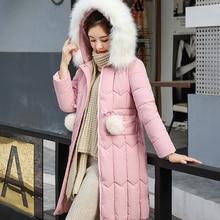-25 degrees Winter Women long parkas jackets Plus size M-5XL thick warm big fur collar female Slim sintepon outwear coa