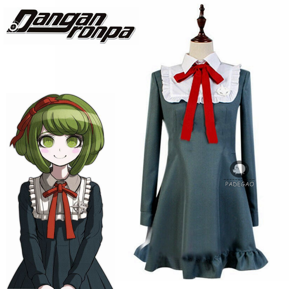 Danganronpa Another Episode:Ultra Despair Monaca Towa Cosplay Costume Dress Custom Size