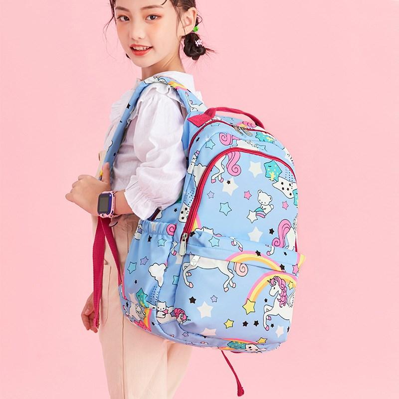 Korean New Large Capacity Elementary School Bag Cute unicorn Print Girls Schoolbag Waterproof Light Weight Children's Backpack