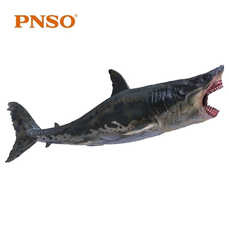PNSO メガロドンサメとブラケットスタンドサポートクラシックのおもちゃ子供男の子海の生物古代動物図モデル  グループ上の おもちゃ & ホビー からの アクション & トイ フィギュア の中 1