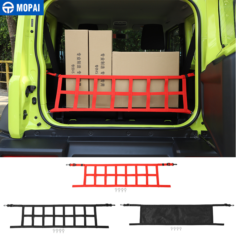 MOPAI Car Cover for Suzuki Jimny 2019+ Car Trunk Cargo Net Cover Storage Bag Accessories for Suzuki Jimny 2019+