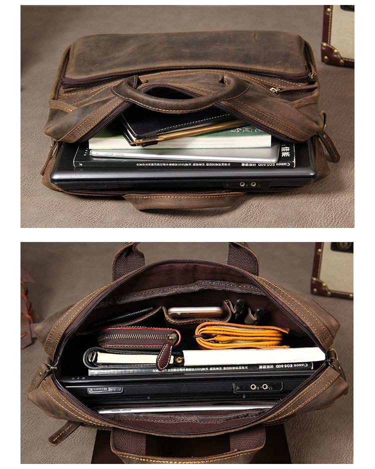 H89cb21eb5753407cb8f9a63ec9aa3b86F MAHEU Vintage Leather Mens Briefcase With Pockets Cowhide Bag On Business Suitcase Crazy Horse Leather Laptop Bags 2019 Design
