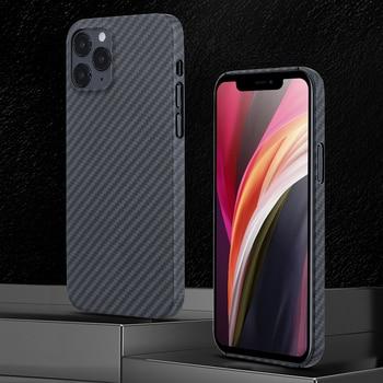 0.7mm Ultra Thin Aramid Fiber Case for iPhone 12 Pro Max 12Pro Carbon Fiber Cover for iPhone 12 Mini 11 XS Max XR 11Pro Shell 1