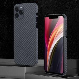 Image 1 - 0.7ミリメートル超薄型アラミド繊維ケースiphone 12プロマックス12Pro炭素繊維iphone 12ミニ11 xs最大xr 11Proシェル