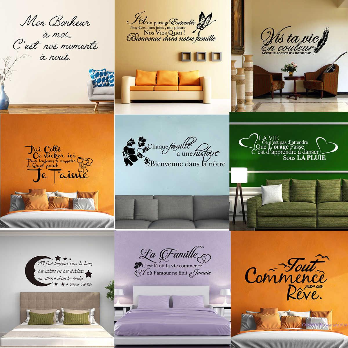 Stickers Muraux Bonheur Citation Decoration Maison Stickers Deco