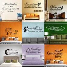 Autocollants Muraux Citation Bonheur, décoration de Maison, affiche murale, Salon, décoration de Chambre