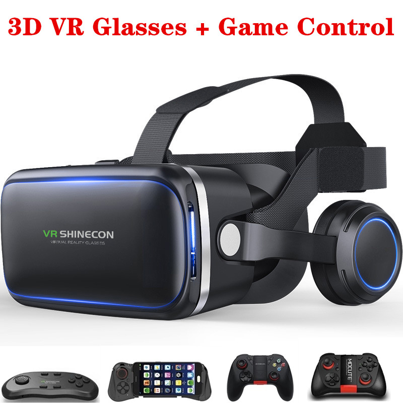 Virtual Reality 3D VR Glasses For 4.7-6.0 inches Smart Phones Edition Headset Version Optional Bluetooth Game Controller Toys