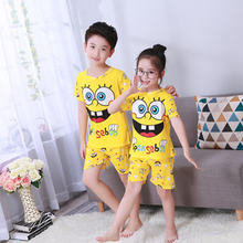 Sleepwear Clothing-Sets Suit Short-Sleeve Listing Girls Boys Kids Children Cartoon Summer