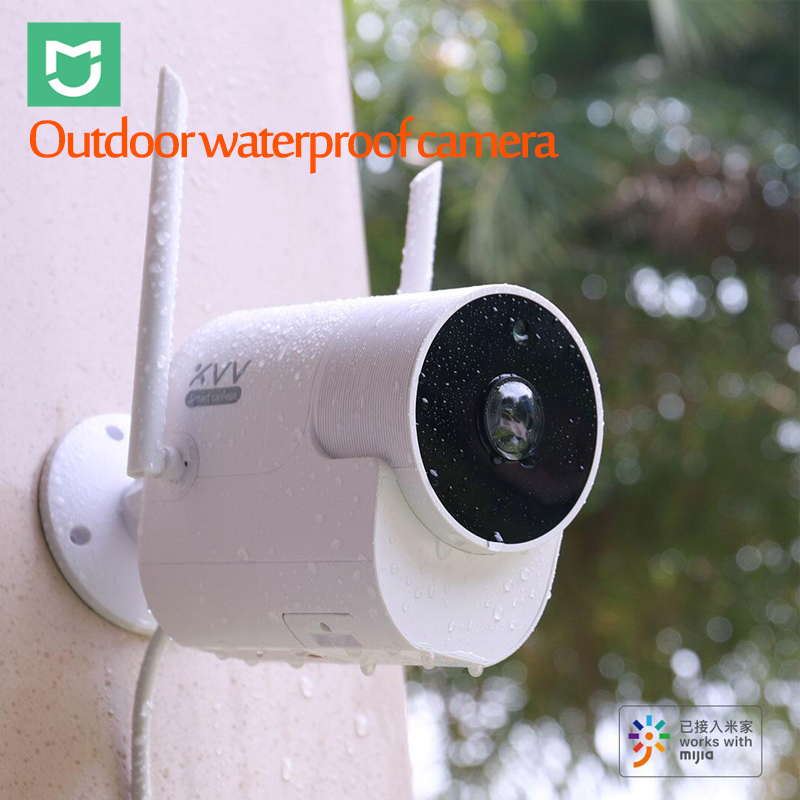 2019Xiaomi Xiaovv caméra étanche panoramique extérieure 360 IP 1080P caméra de Surveillance sans fil WIFI vision nocturne avec application Mijia