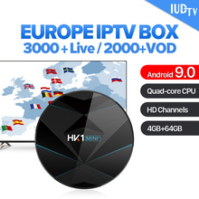 Sweden Spain Italy UK Germany IPTV 1 Year Code HK1 MINI+ Android 9.0 4G+64G BT Dual-Band WIFI Greece IUDTV