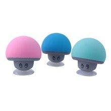 Mini Bluetooth lecteur haut parleur champignon sans fil Bluetooth 4.1 haut parleur lecteur MP3 avec micro Portable stéréo Bluetooth pour téléphone