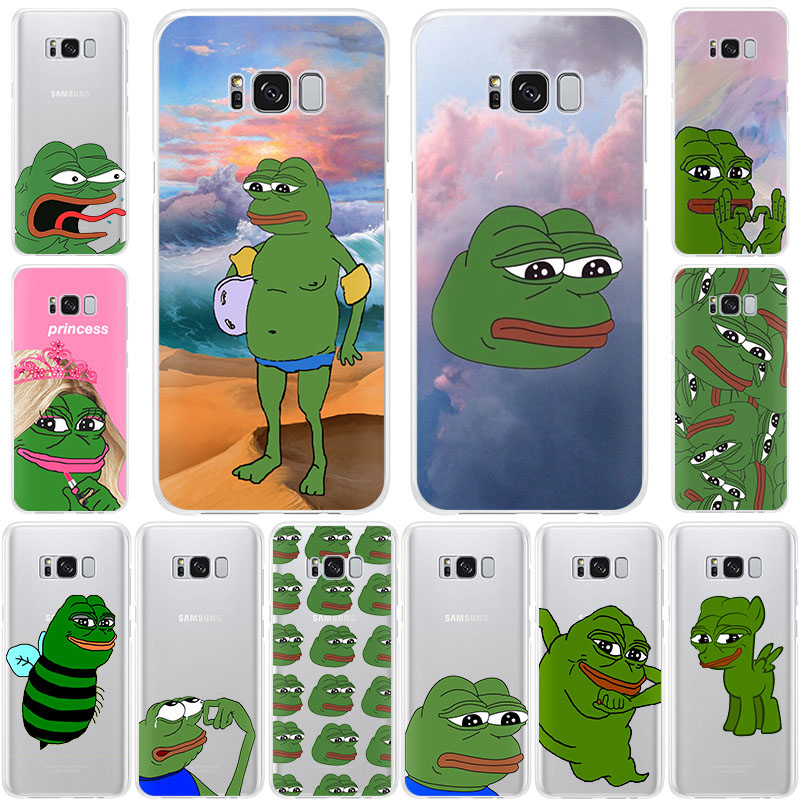 Funny The Frog Pepe memes face cute Soft TPU Silicone phone case for Samsung Galaxy Note10 S10 5G S9 Note9 S8 S7 6 fashion cover image