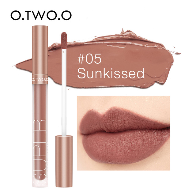 O.TWO.O Pigment For Lip Gloss Matte Velvet Makeup Waterpoof Long Lasting Liquid Lipstick Nude Brown Red Color For Women 1