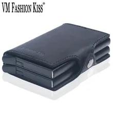 RFID Wallet Credit-Card-Holder Custom FASHION VM KISS Name Purse Information Double-Box