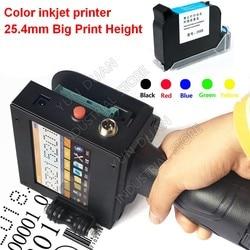 Colorful 25.4MM 1inch large Print height Handheld Touch Screen Inkjet Printer Laser coder Label USB QR Code QR Bar code logo
