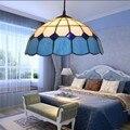 Restaurant  Bar  Licht  Blau  Einzel Kopf  Einfache Balkon  Schlafzimmer  Hängende Lampe  mittelmeer Restaurant anhänger lichter-in Pendelleuchten aus Licht & Beleuchtung bei